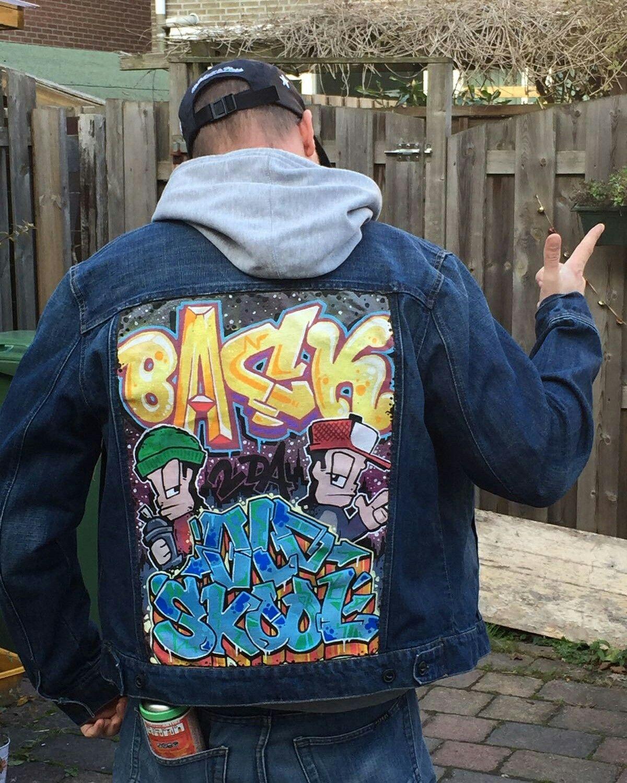 c68b3cf5a83f Custom Clothing, Denim Jackets, Star Fashion, Wardrobes, Graffiti, Jacket,  Closets