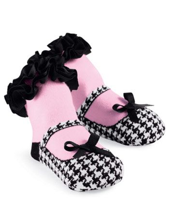2146f8d43e87 My babygirl will have these!!! Blair Houndstooth Socks with Black ...