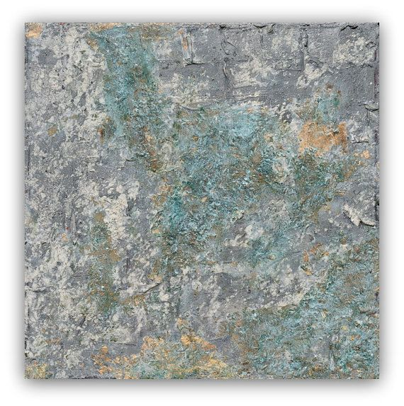 Large abstract canvas Giclee green jade taupe by studioARTificial