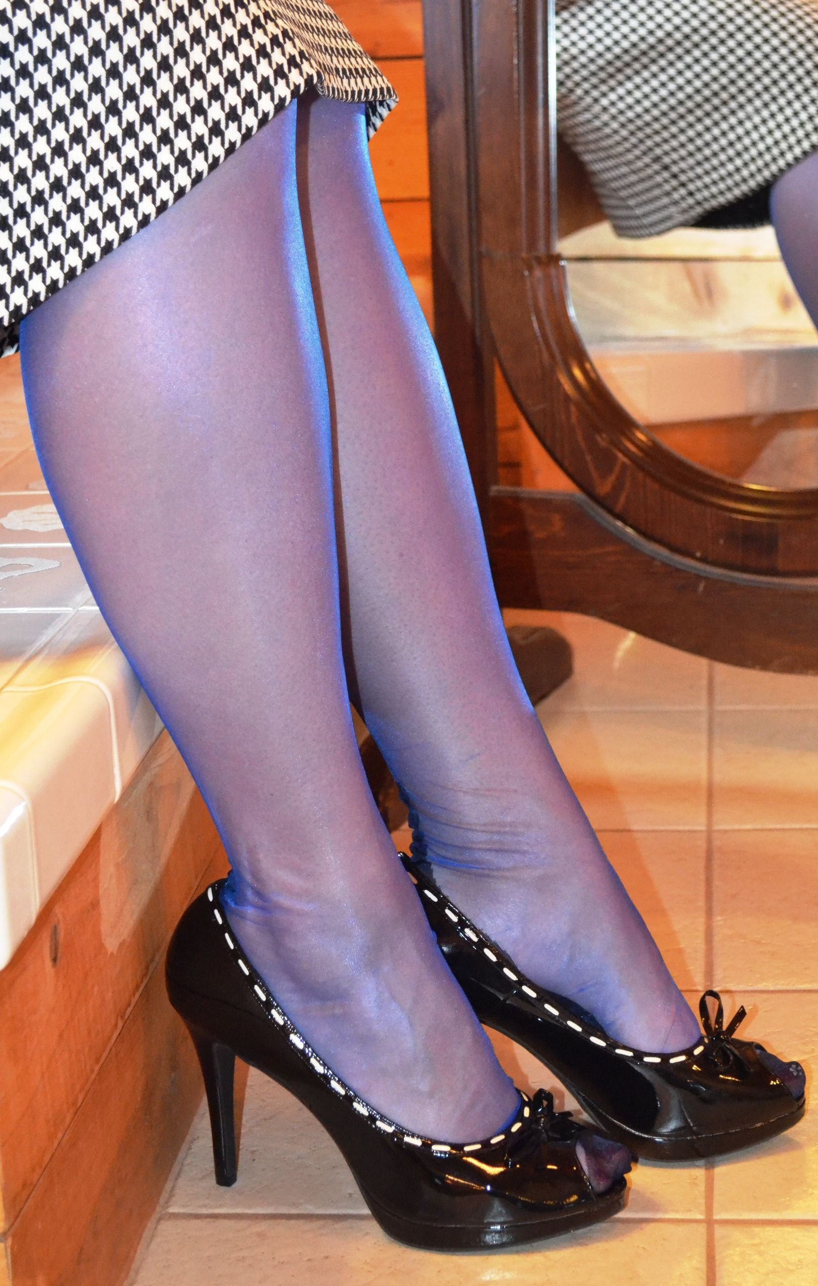 1e47b7eb657 Fully fashioned stockings made even better with dazzling color