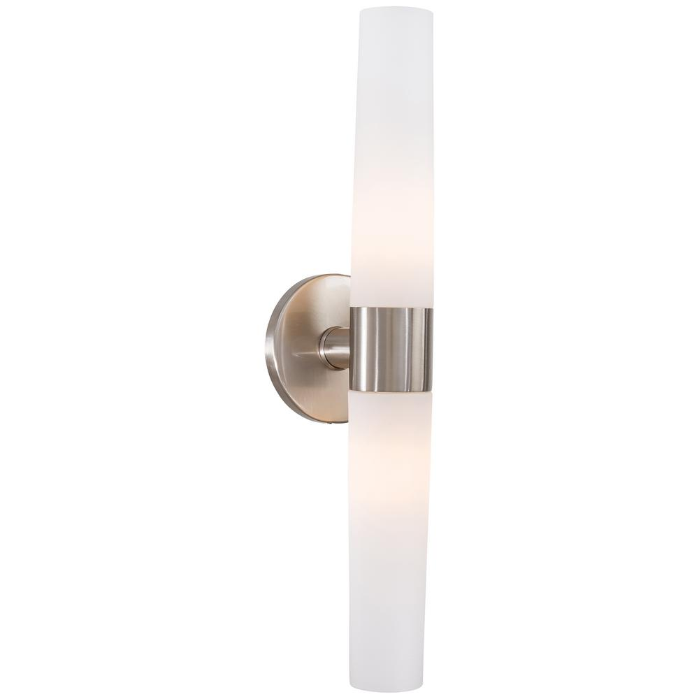 George Kovacs Saber 2 Light Brushed Nickel Wall Sconce P5042 084 The Home Depot Wall Sconces Sconces Wall Lights George kovacs wall sconces