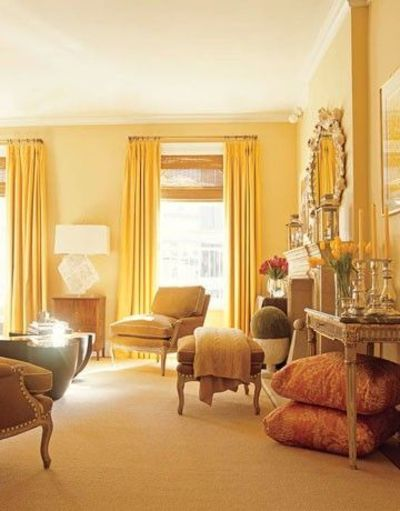 20 Yellow Walls Living Room Magzhouse, What Color Curtains With Mustard Yellow Walls