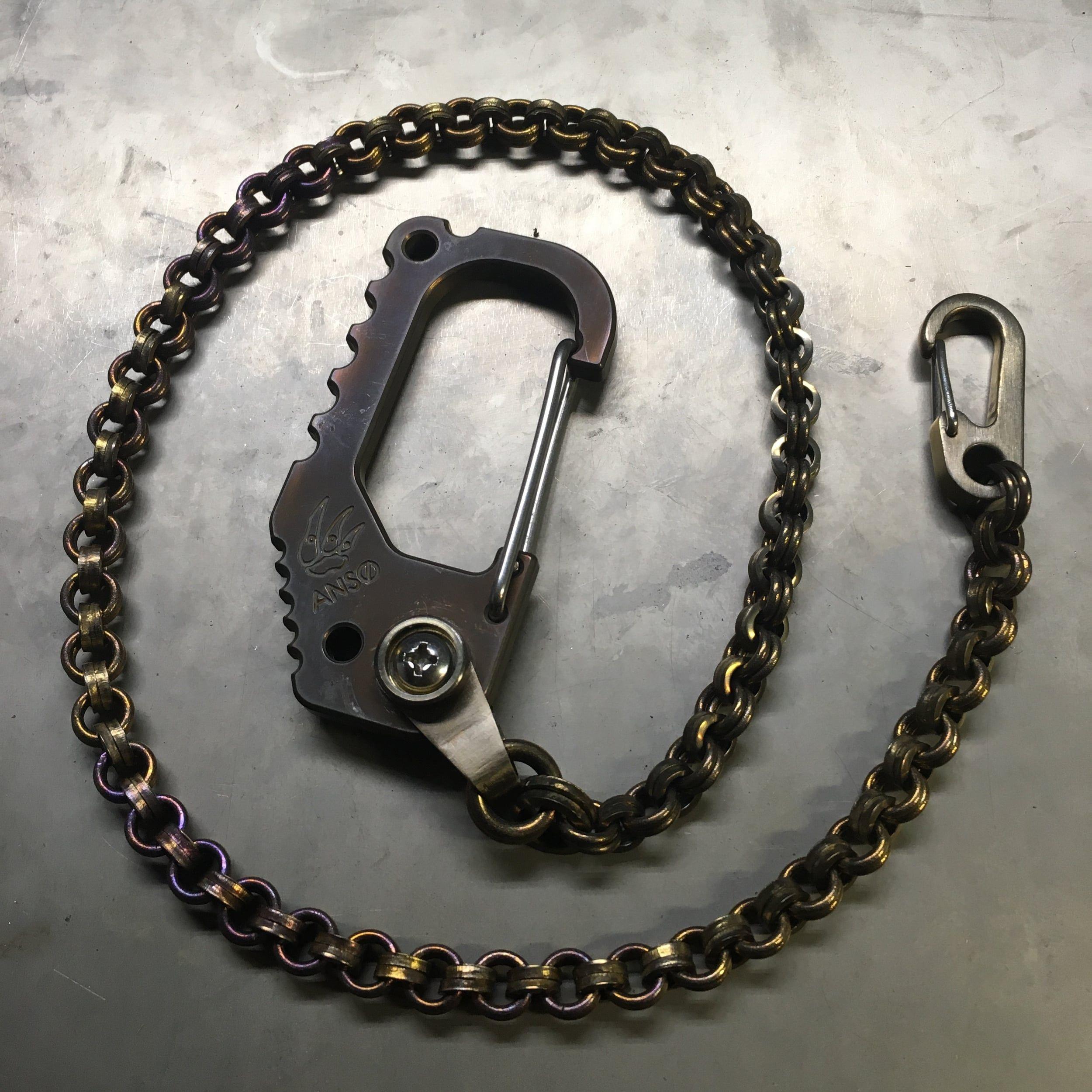 Anso  Titanium Carabiner Wallet Chain