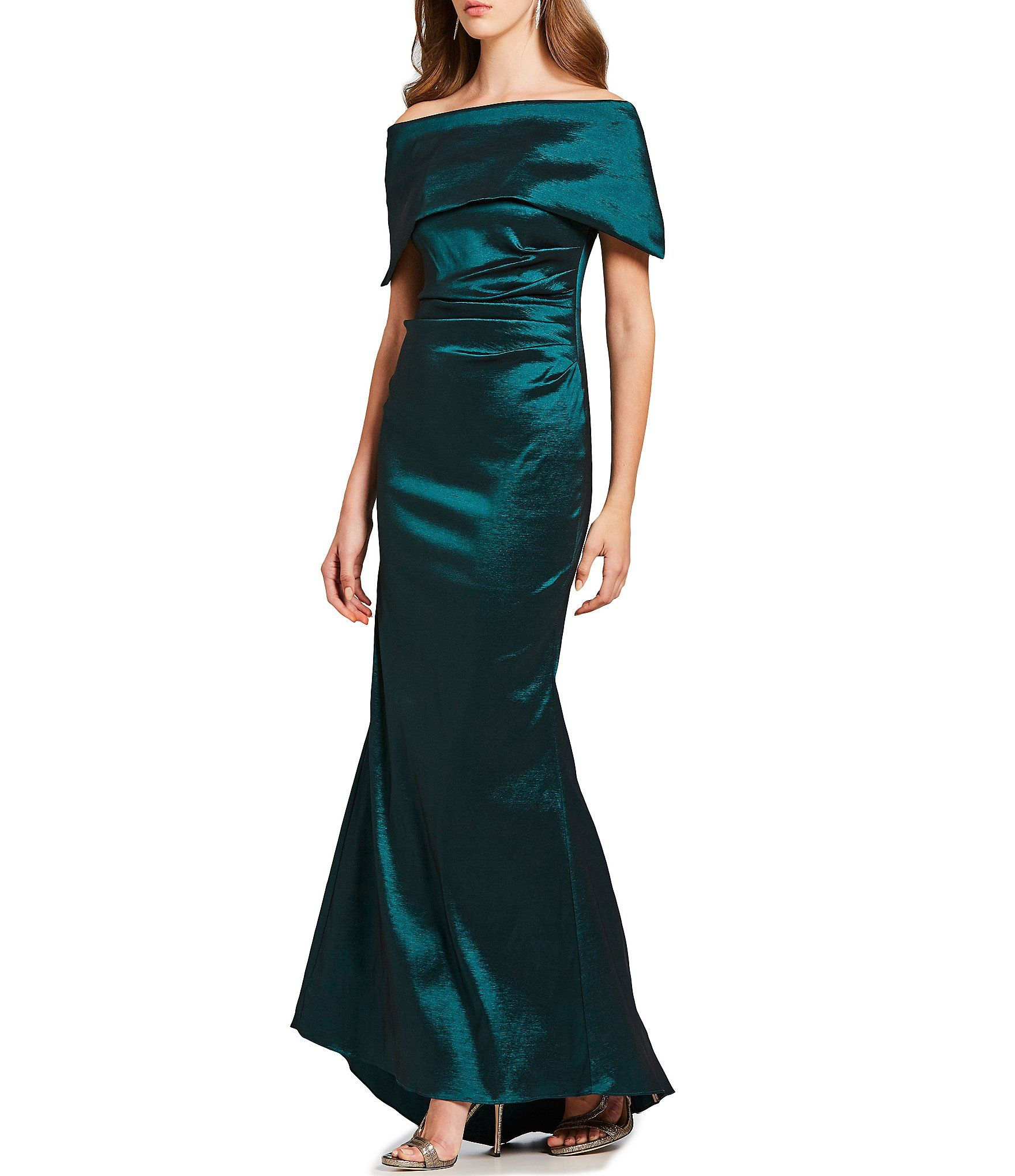 7ea795baf4a Shop for Vince Camuto Off-the-Shoulder Satin Sheath Gown at Dillards.com.  Visit Dillards.com to find clothing