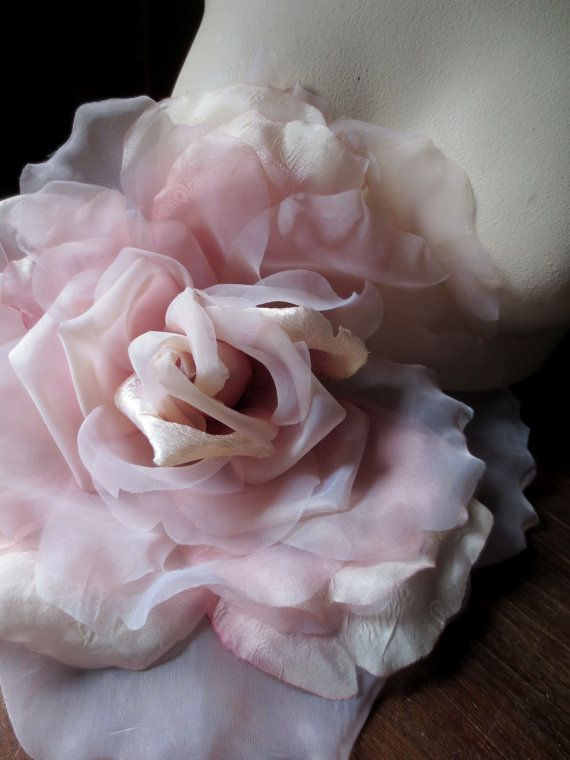 SALE Silk Flower Grand Millinery Rose in Old Rose by MaryNotMartha, $36.95