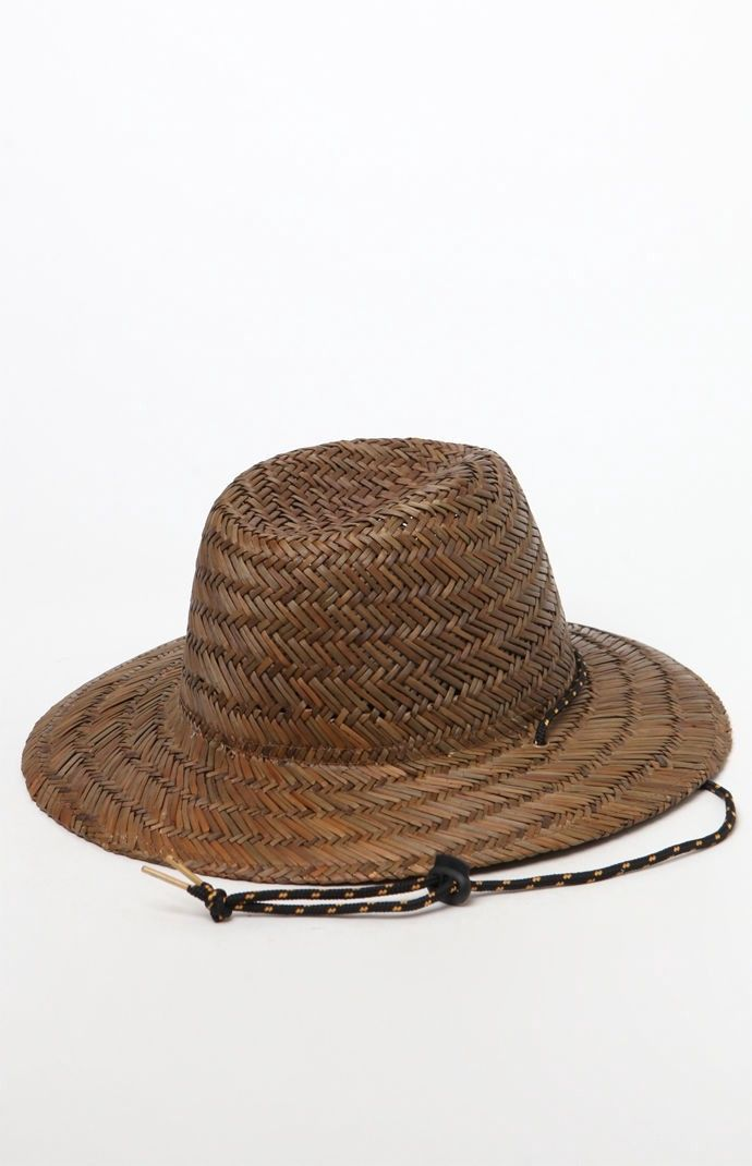 913e291fc82 Billabong Nomad Straw Lifeguard Hat - Brown 1Sz