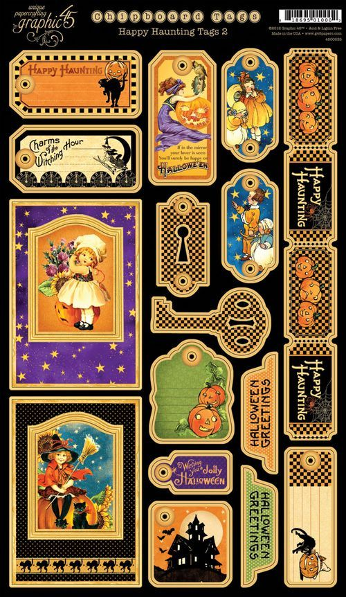 Happy Haunting Chipboard Tags 2! #graphic45