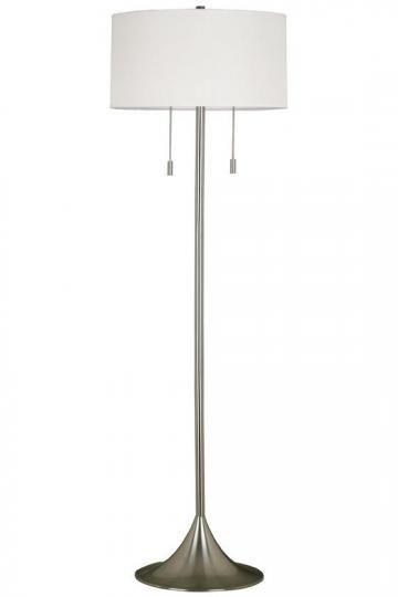 Stowe Floor Lamp - Floor Lamps - Lighting   HomeDecorators.com - cover shade with print fabric?