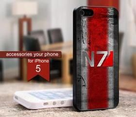 N7 Mass Effect 3 Logo HP509B - iPhone 5 Black Case