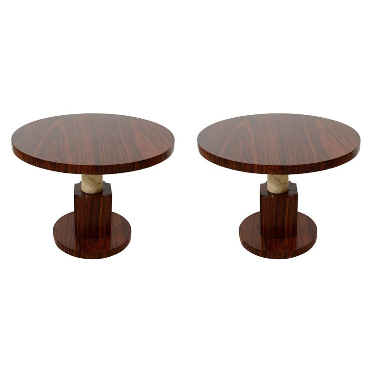 A Unique Pair Of French Art Deco Side Tables From A Unique