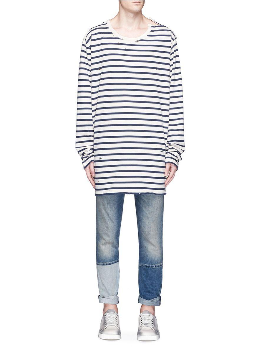 9e350e3adc FAITH CONNEXION Oversized stripe long sleeve T-shirt. #faithconnexion  #cloth #t-shirt