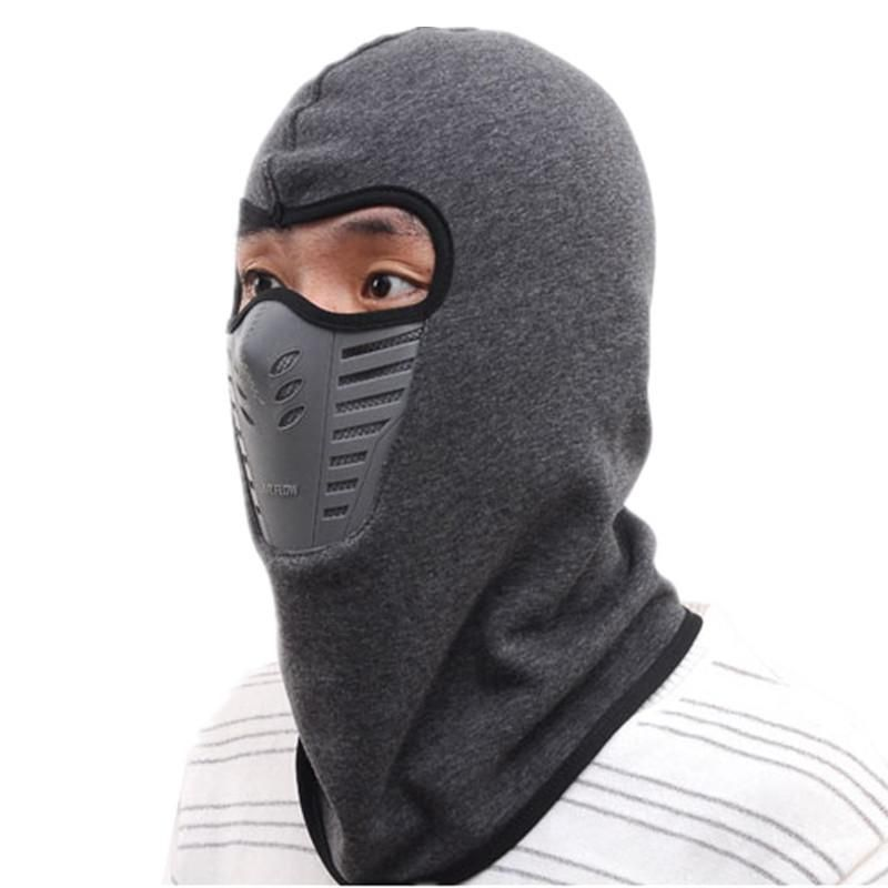 5fb4ef46ccf33 Ski Mask Balaclava Winter Beanie Hat Mens Fleece Neck Warmer Knitted Face  Mask Caps Skullies Beanies