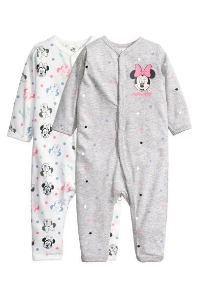 Disney Baby M/ädchen Minnie Mouse Schlafstrampler und M/ütze Set