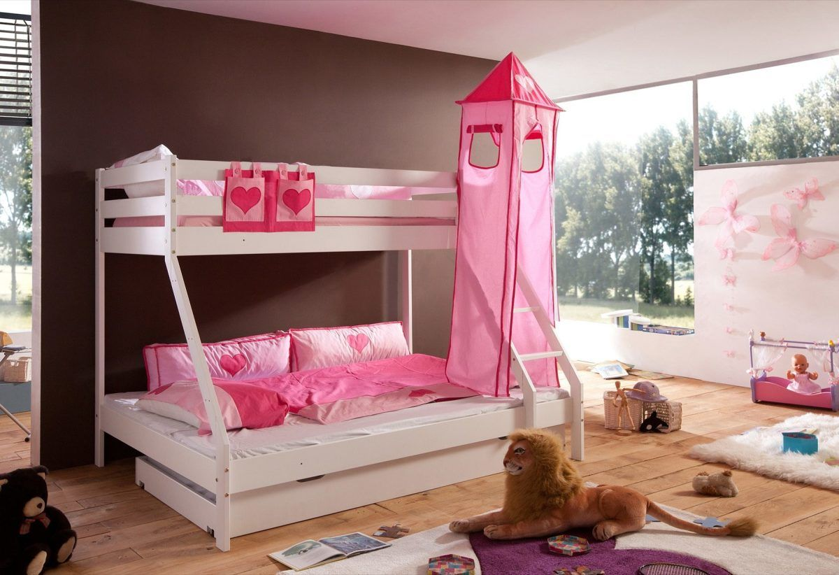 Etagenbett Rosa : Vorhang set pink rosa hochbett etagenbett stoffset tlg