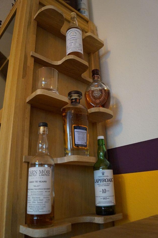 Weinregal Whiskyregal Flaschenregal Eiche Holz