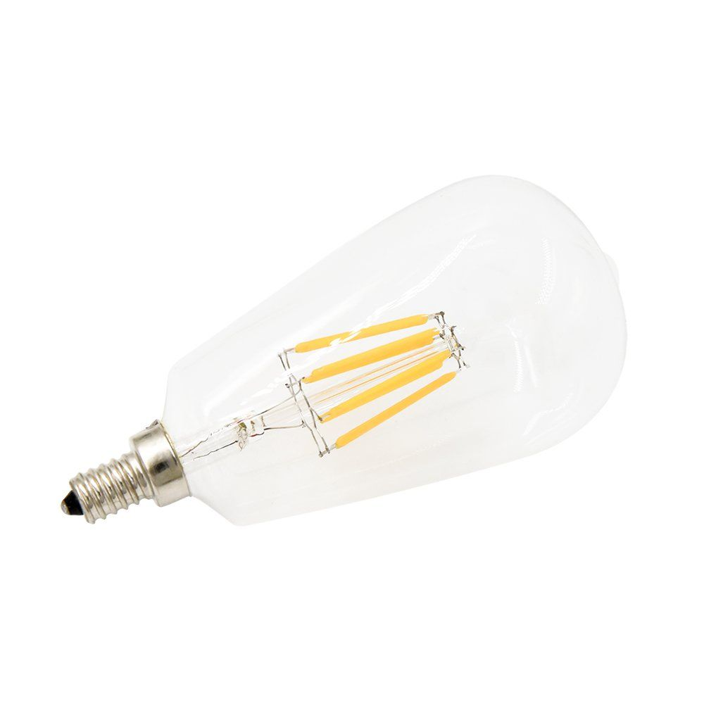 8w St21st64 Edison Led Filament Bulb Lustaled E12 Candelabra Base 120v Clear Squirrel Cage Style Decorative Bulb Light Bulb Candelabra Light Light Bulb Candle