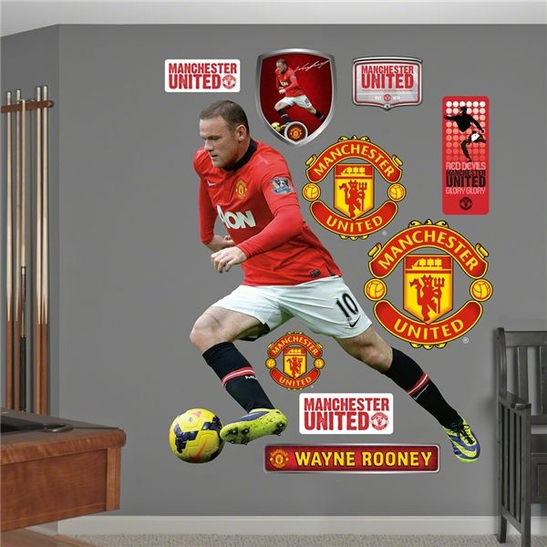 Manchester United Rooney Fathead Wall Decal Worldsoccershop Com Manchester United World Soccer Shop Manchester United Rooney