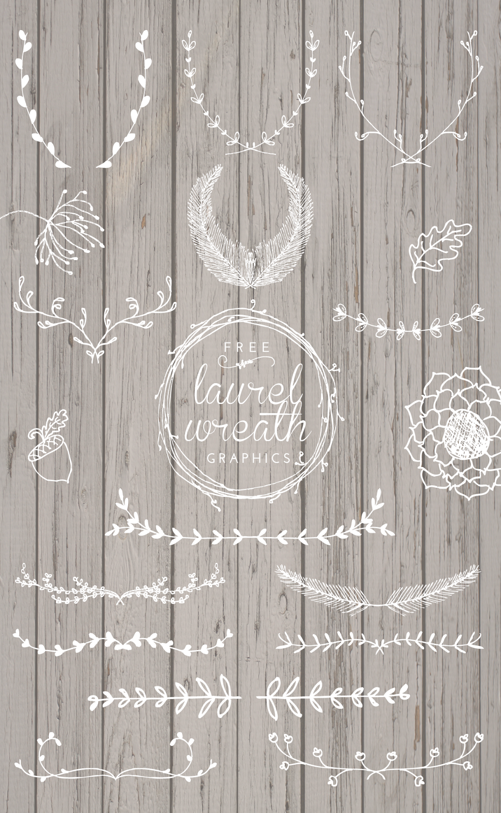 Free Laurel Wreath Graphics Printables And Downloadables Years Ago Ai How To Edit This Vector For Commercial Use With Beautiful Hand Drawn Elements Your Designs