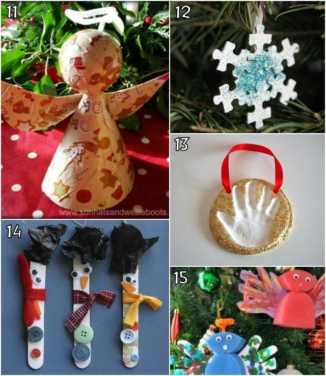 26 Christmas Decorations kids can make Holiday crafts Pinterest