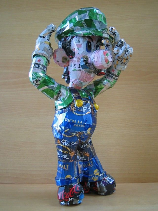 Sculptures Made from Beverage Cans by Makaon…