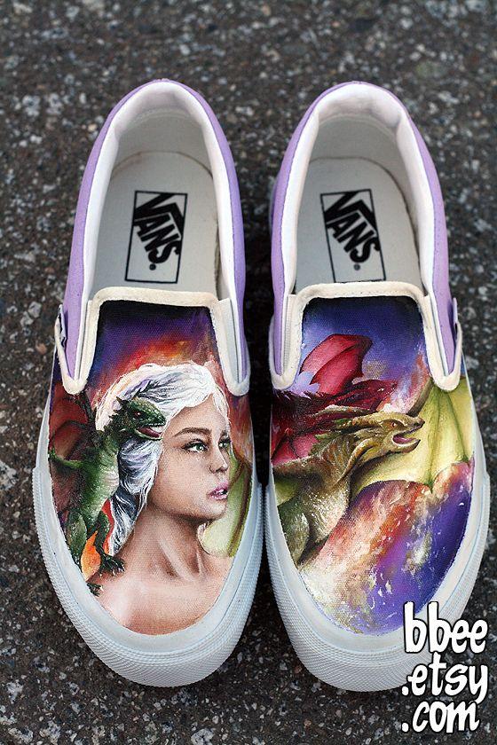 c6226724b1ecc Game of Thrones Shoes (!!!) by BBEEshoes.deviantart.com #GoT #asoiaf  #danaerys