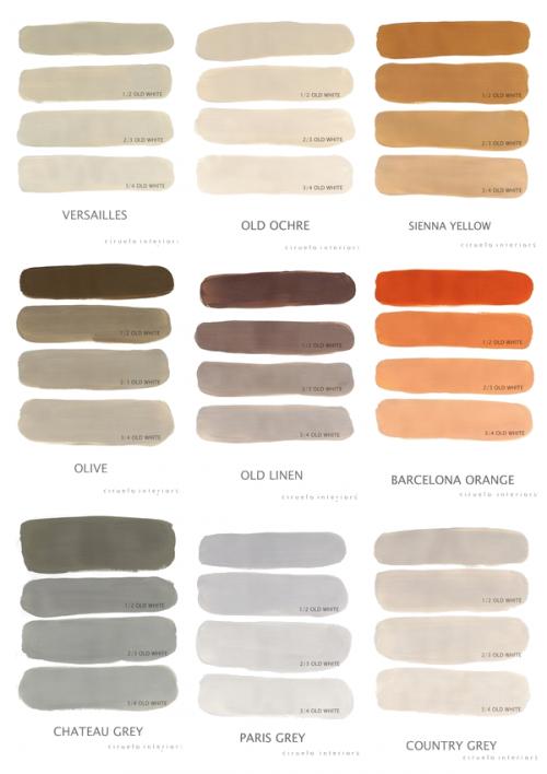 Paletas De Color Otoñales Por Annie Sloan Chalk Paint