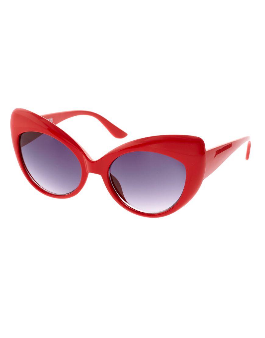 592640502f Cat Eye Sunnies! Red Cat Eye Sunglasses