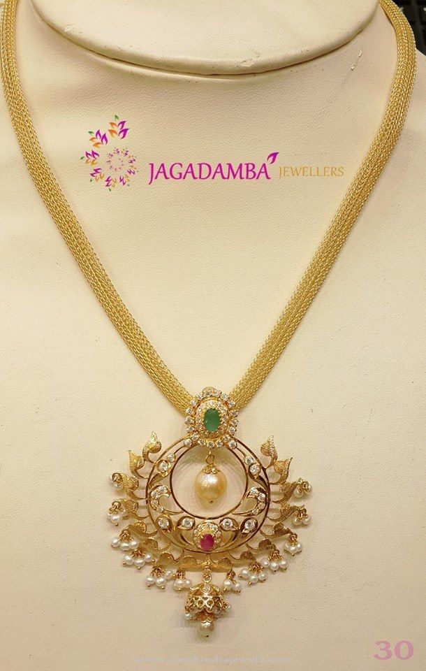 mango plated beads model gold traditional content jewellery kemp necklace jewelsmart online