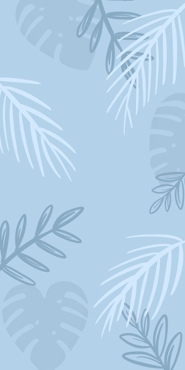 Palm leafs blue wallpaper by HokkaidoCo
