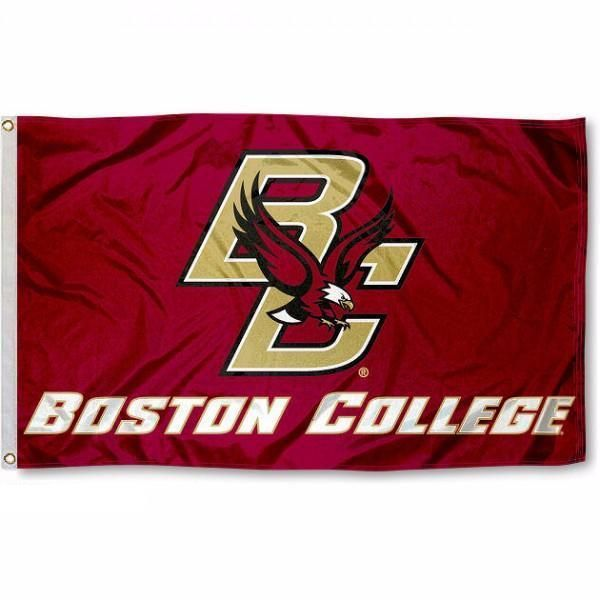 BC Eagles 5-Time National Hockey Champions Flag College Flags and Banners Co