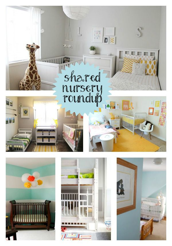Be still my heart shared nursery and toddler room roundup for Bedroom ideas for baby boy and girl sharing