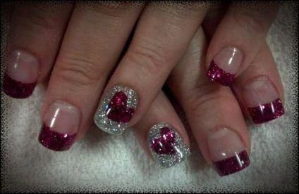 57 trendy nails glitter black valentines day nails
