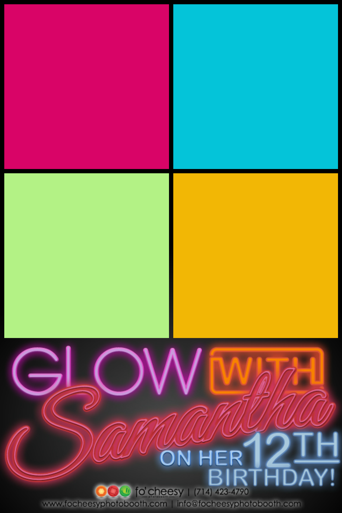 Glow in the Dark Photobooth Layout, photo booth | Layout Design ...