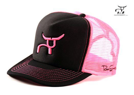 531596cbd53 Neon Series - Pink Ropesmart hat team roping rodeo cap super cute ...