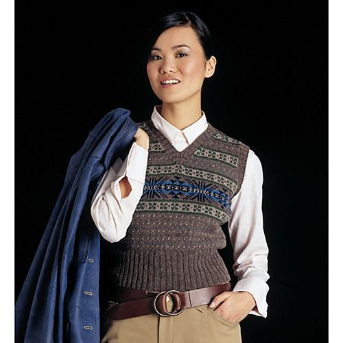 09 Fair Isle Vest pattern by Gayle Bunn | Vest pattern, Fair isles ...