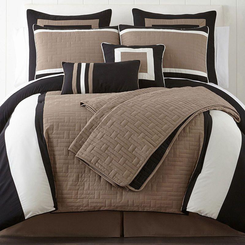 JBFF Microfiber Down Alternative Comforter Set Slate King