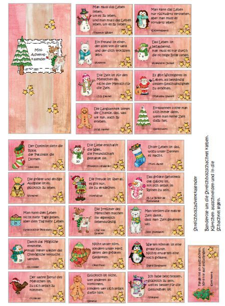 Mini Adventskalender Basteln Mit Vorlage Mama Im Spagat 10