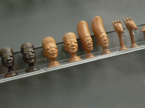 Makonde Chess Set from East Africa African Blackwood and Blond hardwood 20th century CE by mharrsch, via Flickr