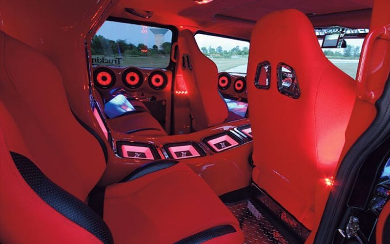 red interior of a hummer h2 all red n t thang. Black Bedroom Furniture Sets. Home Design Ideas
