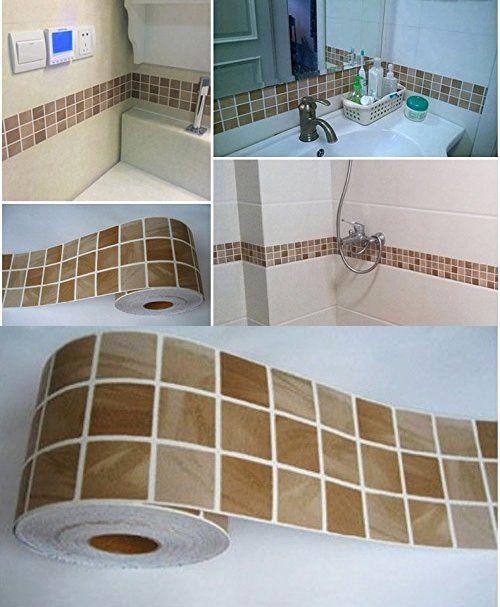 mosaic art mosaic wall paper sticker tile floor kitchen bathroom waterproof mosaic art