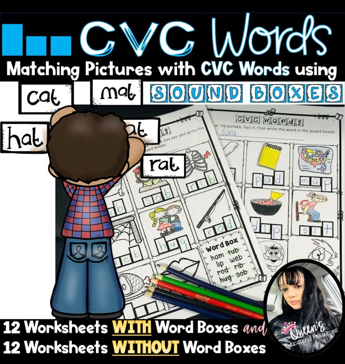 Cvc Picture Word Sound Box Worksheets 24 Worksheets In
