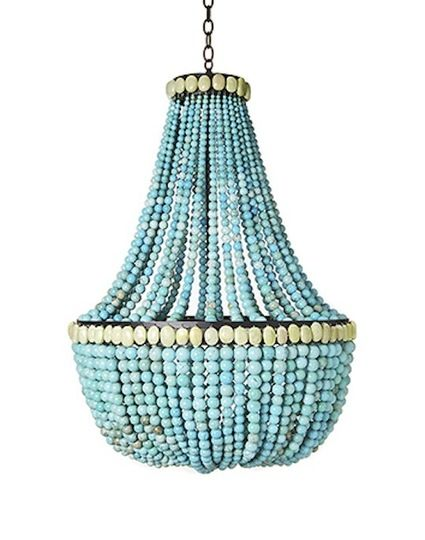 5 bright ideas for diy chandeliers diy chandelier plant hangers turquoise beaded chandelier diy gonna try this with clear crystals for my bedroom aloadofball Images