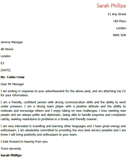 cover letter for cabin crew awesome resume template this ...