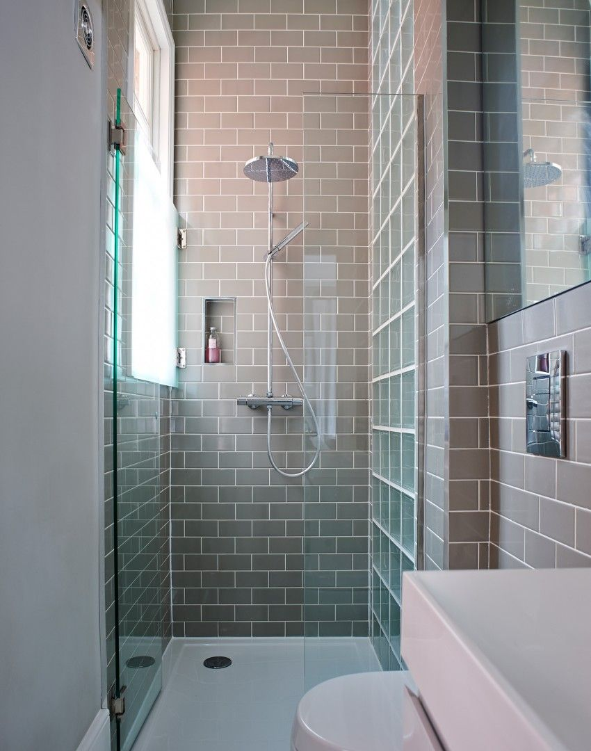 Modern grey tiled shower cubicle | bathrooms | Pinterest | Shower ...