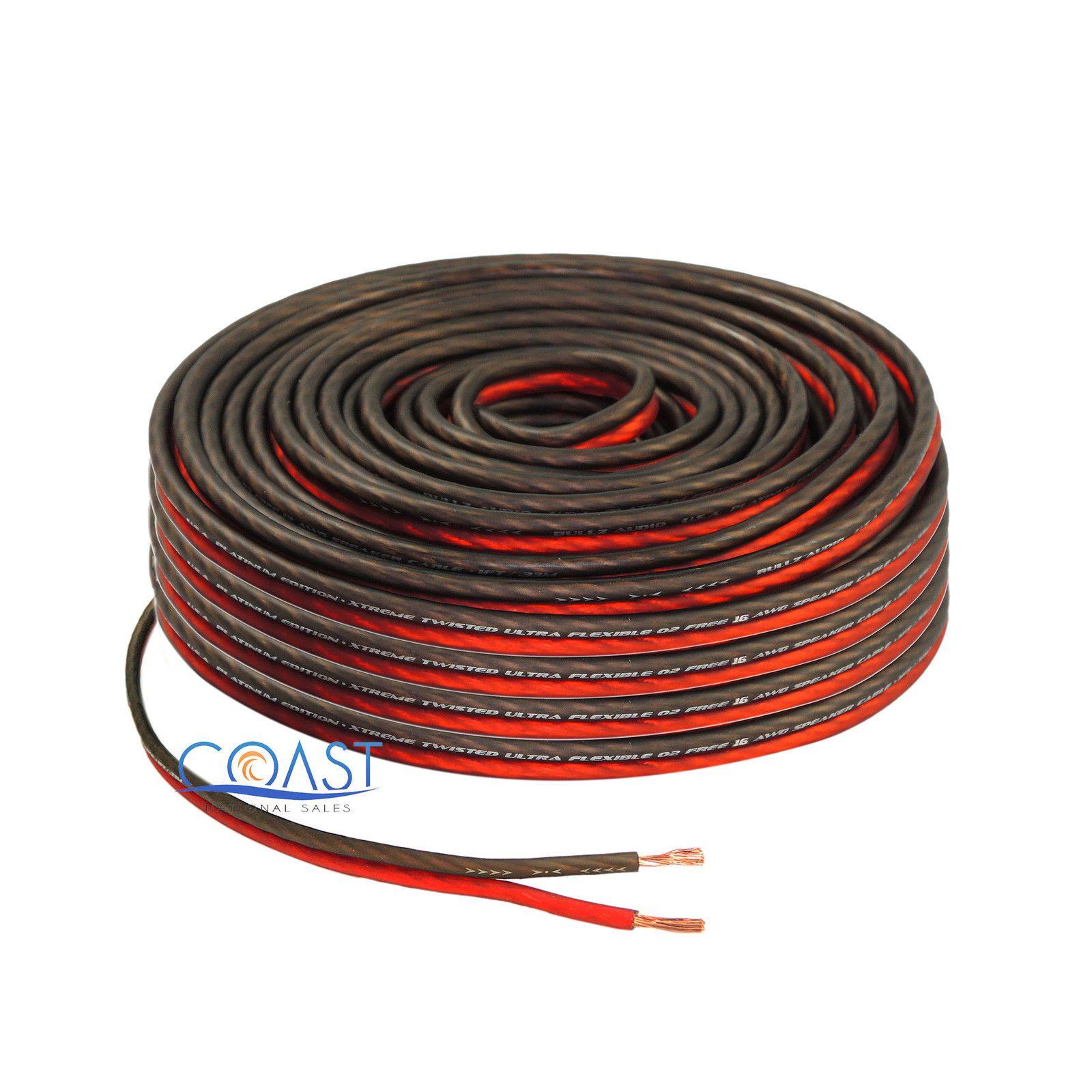 red 100 ft true 16 gauge awg car home audio speaker wire cable rh pinterest com Car Stereo Speaker Wiring Diagram Pioneer Car Stereo Wiring Diagram