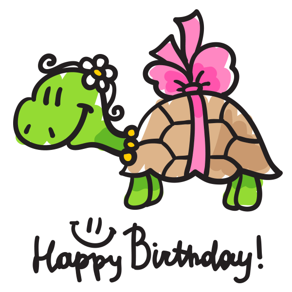 Birthday Turtle With Images Birthday Emoticons Happy Birthday