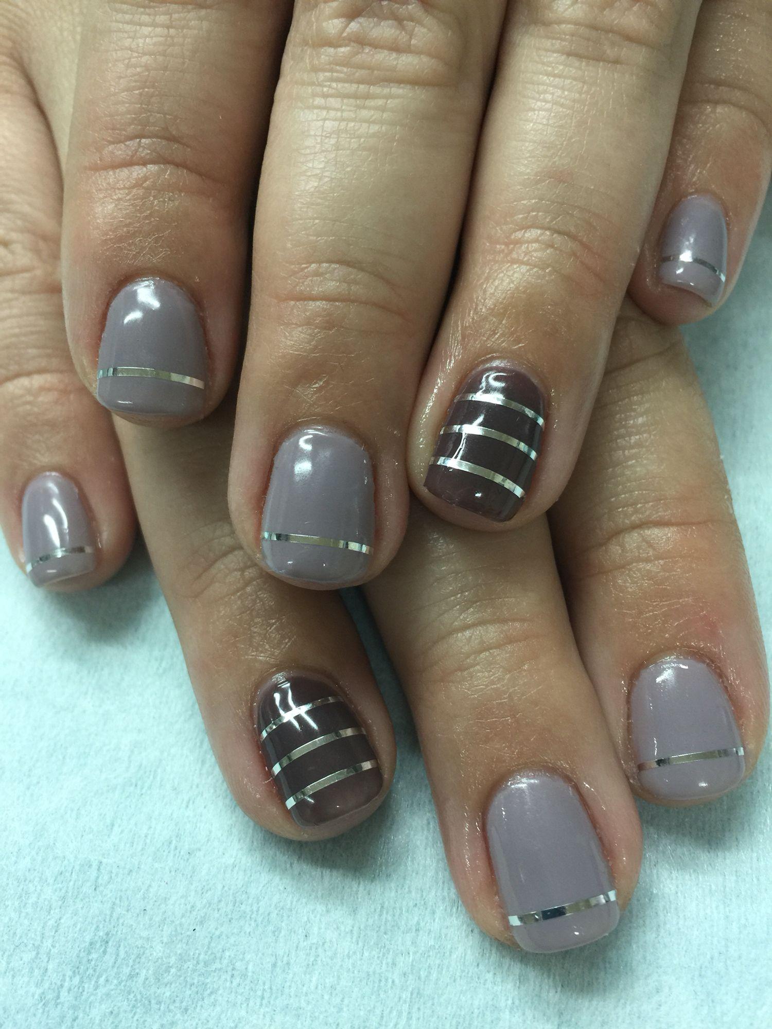 Grey Lavender and dark Plum gel polish over non-toxic odorless hard ...