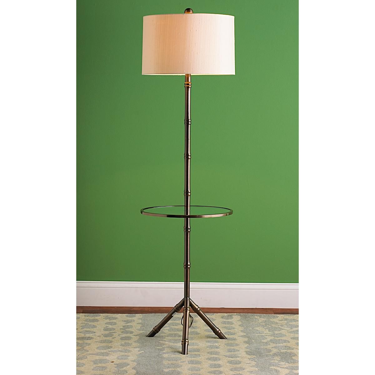Bamboo Tray Table Floor Lamp 2 Finishes Floor Lamp Floor Lamp Table Floor Lamp Shades