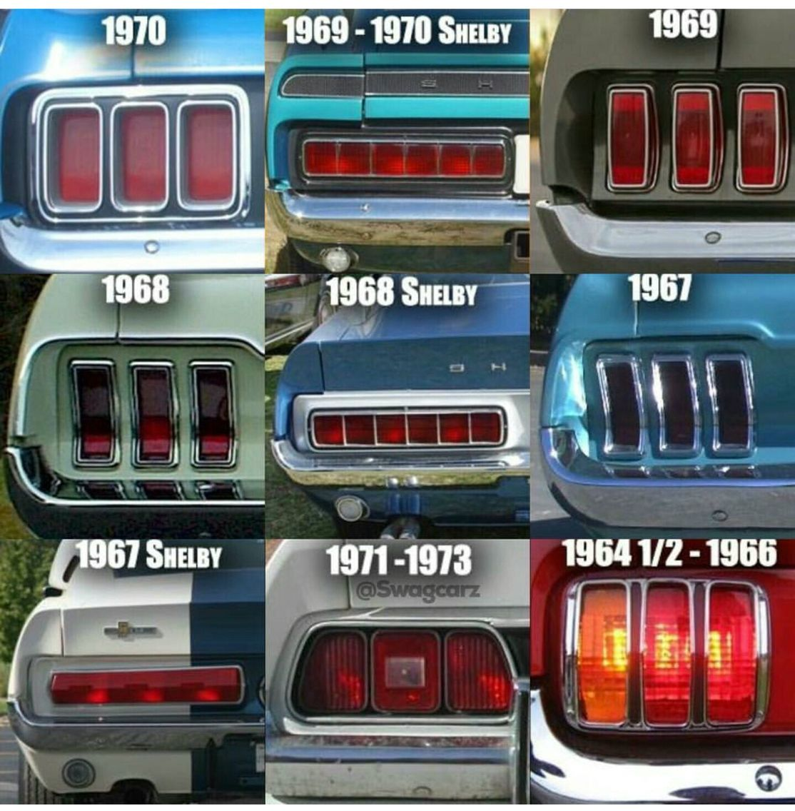 Image result for quick guide to identifying mustangs marvelous mustangs shelbys pinterest