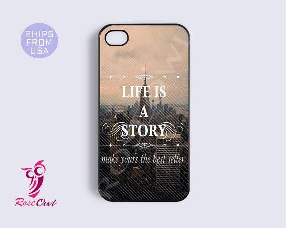 Life Quotes Iphone 5 case, iphone 5 cover -  Unique Inspirational Happy Retro Fashion Iphone Cases, Coolest Top Hard Rubber Covers on Etsy, $14.99